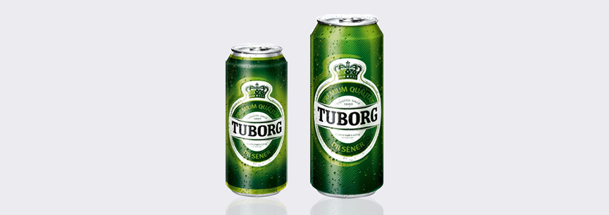 Beverage Can Size - Tuborg