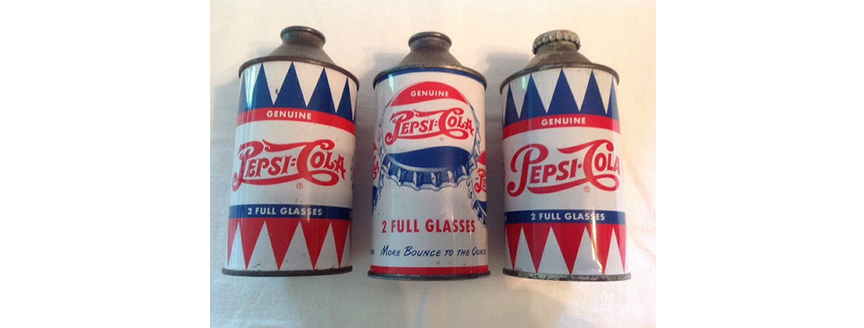 Pepsi Cone Top Cans Collecting